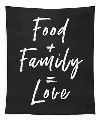 Food Family Love- Art By Linda Woods Tapestry