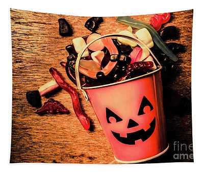 Food For The Little Halloween Spooks Tapestry