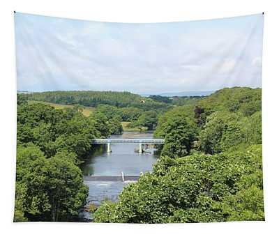 Footbridge Over The River Tees Tapestry