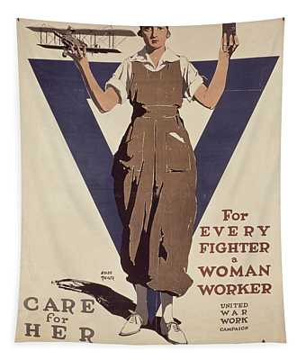 For Every Fighter A Woman Worker Tapestry