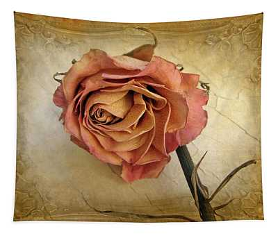 Pink Rose Photographs Wall Tapestries