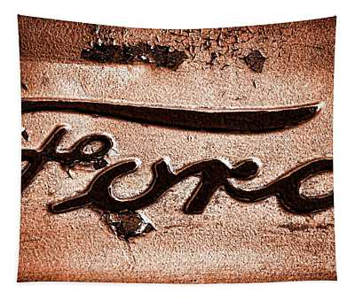 Ford Badge Grunge Tapestry
