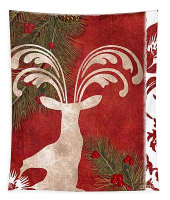 Forest Holiday Christmas Deer Tapestry