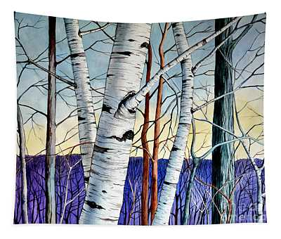 Forest Of Trees Tapestry