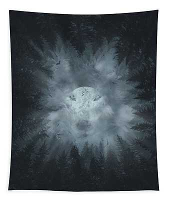 Forest Wolf Tapestry
