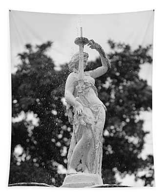 Forsyth Park Fountain - Black And White 2 2x3 Tapestry