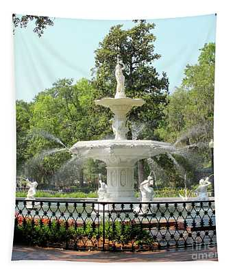Forsyth Park Fountain Square Tapestry