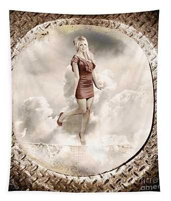 Forties And Fifties Military Pinup Poster Girl Tapestry