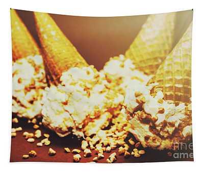 Four Artistic Ice-cream Cones Tapestry