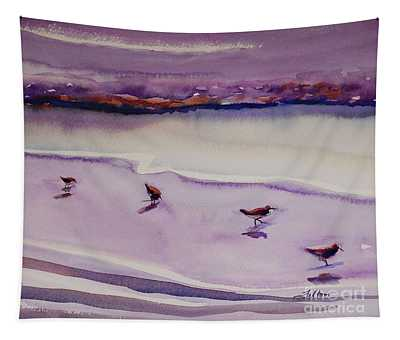 Four Sandpipers Tapestry