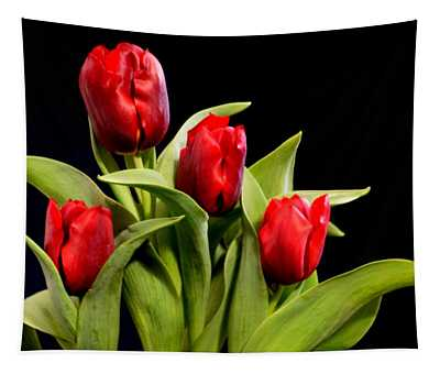 Four Tulips Tapestry
