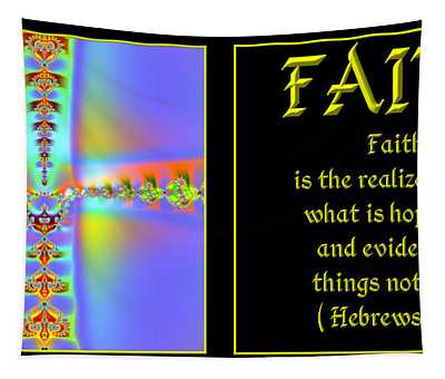 Fractal Faith Hebrews 11 Tapestry