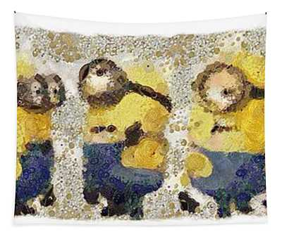 Fragmented And Still In Awe Congratulations Minions Tapestry