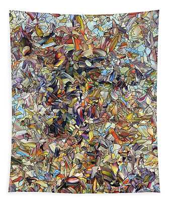 Fragmented Horse Tapestry
