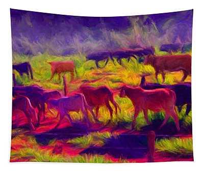 Franca Cattle 1 Tapestry
