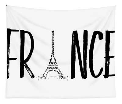 France Typography Tapestry