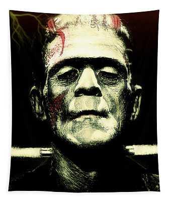 Frankenstein Monster Lightning Edit Tapestry