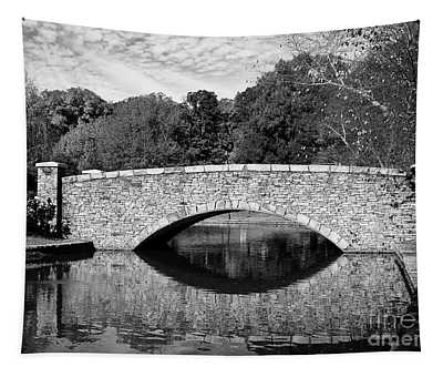Freedom Park Bridge In Black And White Tapestry