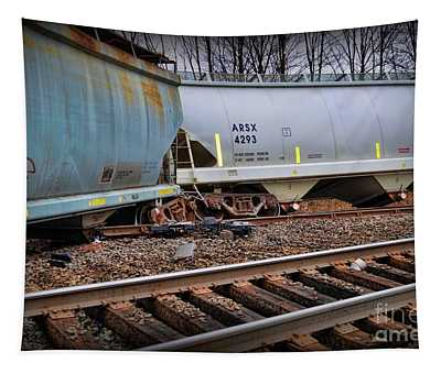 Freight Train Wreckage  Tapestry