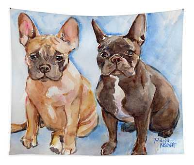 French Bull Dog Tapestry