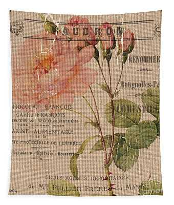 French Burlap Floral 4 Tapestry