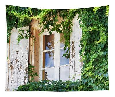 French Window In Provence Tapestry
