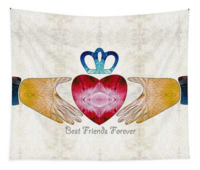 Friendship Art - Best Friends Forever - Sharon Cummings Tapestry