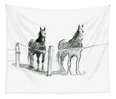 Friesian Horses Tapestry