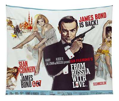 From Russia With Love James Bond Lobby Poster 1963 Tapestry