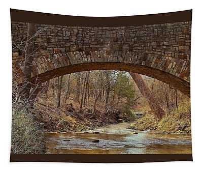 From Under Rock Creek Bridge In Winter Tapestry