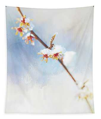 Frosted Witch Hazel Blossoms  Tapestry