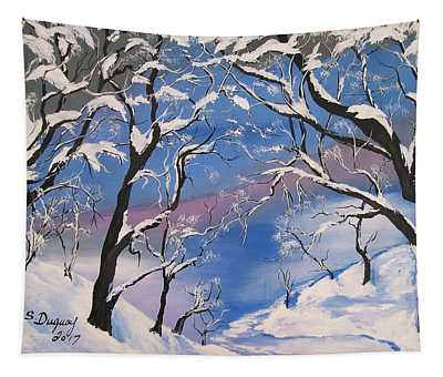 Frozen Tranquility  Tapestry