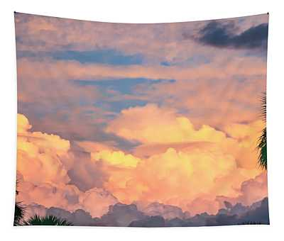 Ft De Soto Sunset Clouds Tapestry
