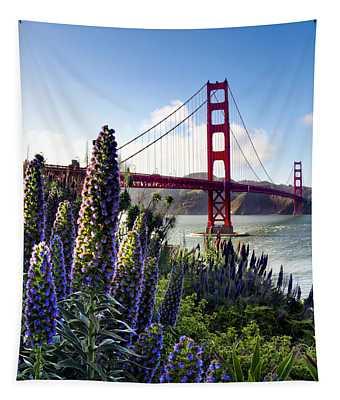 Full Bloom Golden Gate Tapestry