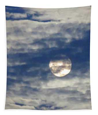Full Moon In Gemini With Clouds Tapestry