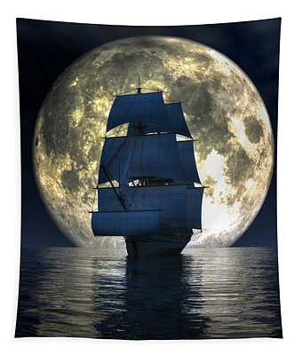 Full Moon Pirates Tapestry