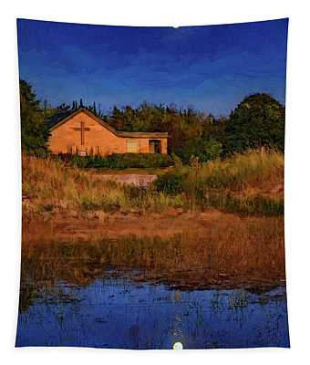 Full Moon Rising - Sauble Beach - Paint Tapestry