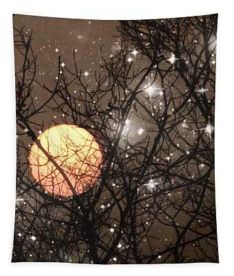Full Moon Starry Night Tapestry