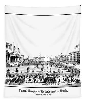 Funeral Obsequies Of President Lincoln Tapestry