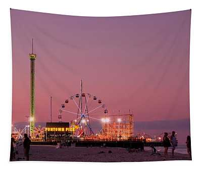 Funtown Pier At Sunset IIi - Jersey Shore Tapestry