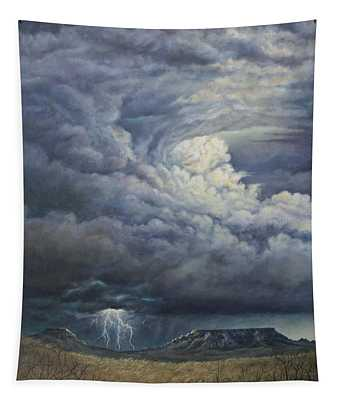 Fury Over Square Butte Tapestry