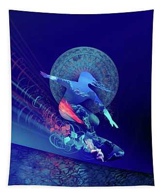 Galaxy Surfer 4 Tapestry
