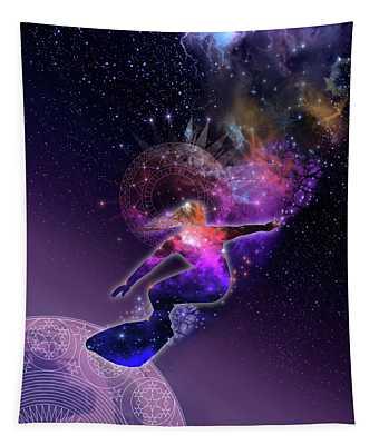 Galaxy Surfer 5 Tapestry