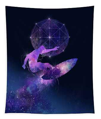 Galaxy Surfer Tapestry