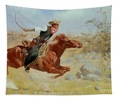 Galloping Horseman Tapestry