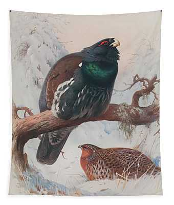 Game Birds And Wild-fowl  Tapestry