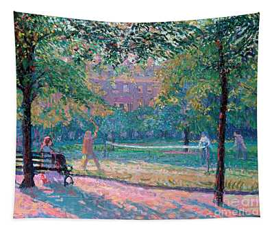 Game Of Tennis Tapestry