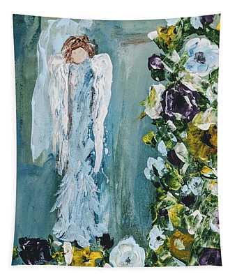 Garden Angel Tapestry