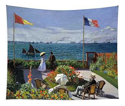 Garden At Sainte Adresse By Claude Monet Tapestry
