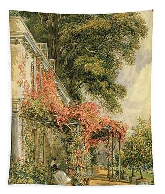 Garden Front Of Mr Robert Vernon's House At Twickenham Tapestry